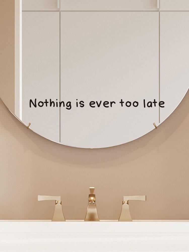 1 шт. Вдохновляющая цитата Nothing Is EverTooLate самоклеящийся съемный домашний декор для стен для гостиной, офиса, спальни, настенная наклейка
