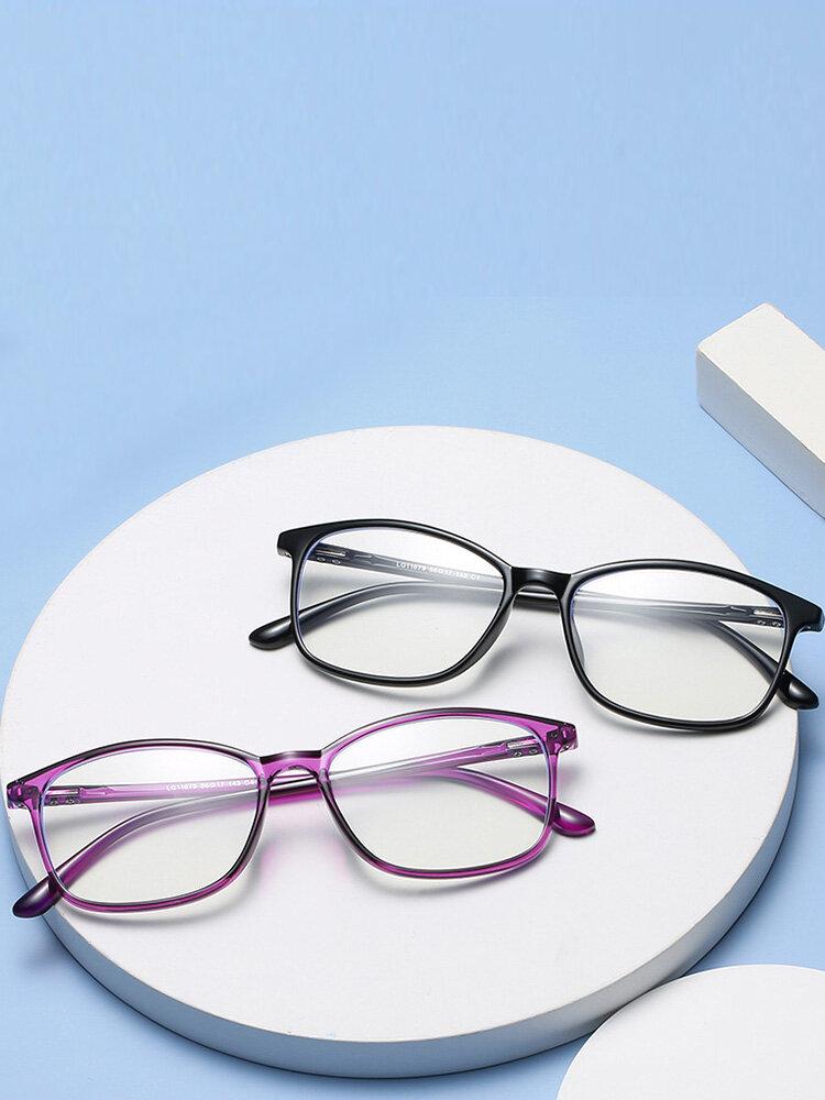 Square Frame Men Anti-Blue Flat Mirror Glasses Ultra-Light Women Computer Goggles