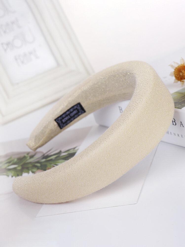 Silk Headband Solid Color Sponge Hair Accessories Hndmade Jewelry