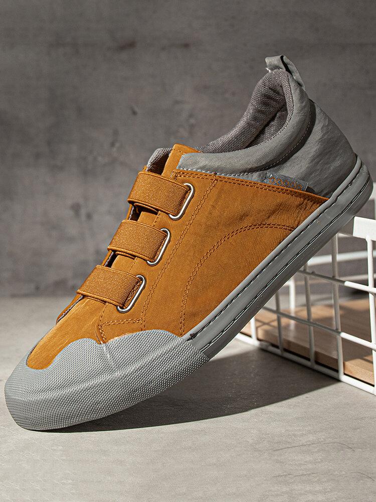 Men Fabric Splicing Non Slip Elastic Band Sport Casual Shoes