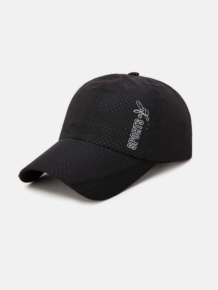 Men's Summer Breathable Mesh Hat Quick Dry Cap Outdoor Sports Baseball Cap
