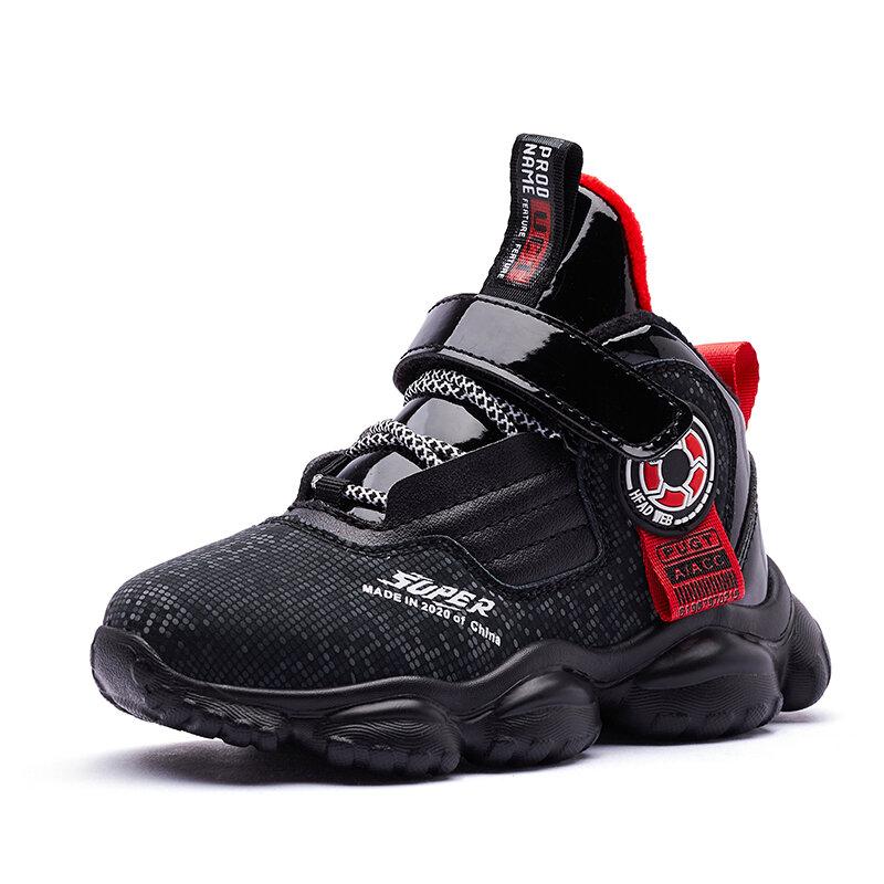 HOBIBEAR Boys Super Cool High Top Comfy Soft Sole Basketball Sneakers