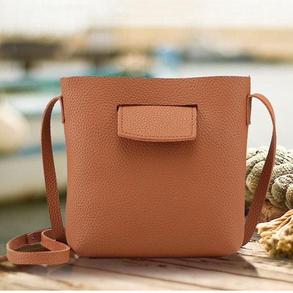 Women PU Leather Soft Crossbody Bag Shoulder Bag Dating Bag