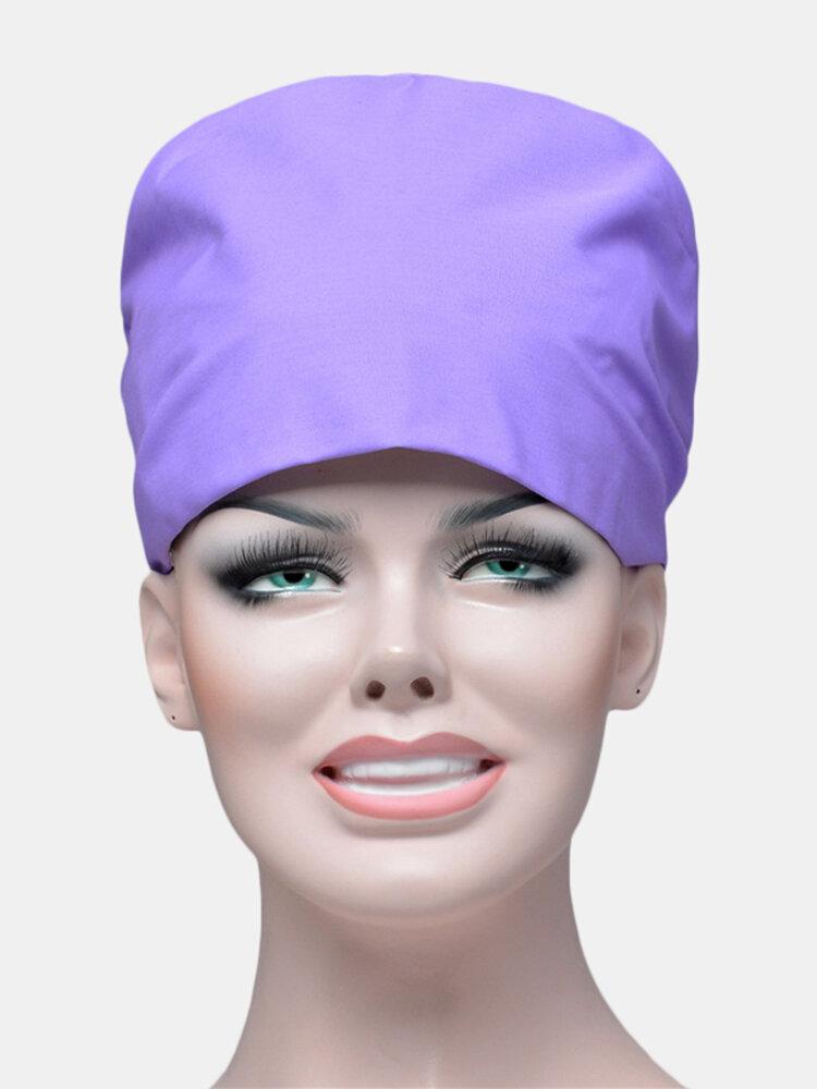 Solid Color Scrub Cap Surgical Hat Nurse Doctor Cap Veterinarian Hat