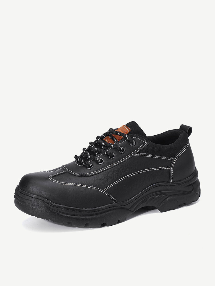 Men Steel Toe Cap Leather Work Safety Shoes