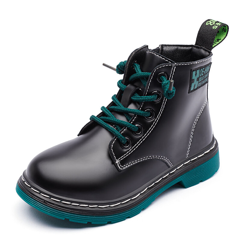 Girls Microfiber Leather Waterproof Soft Lightweight Warm Casual Tooling Ankle Boots