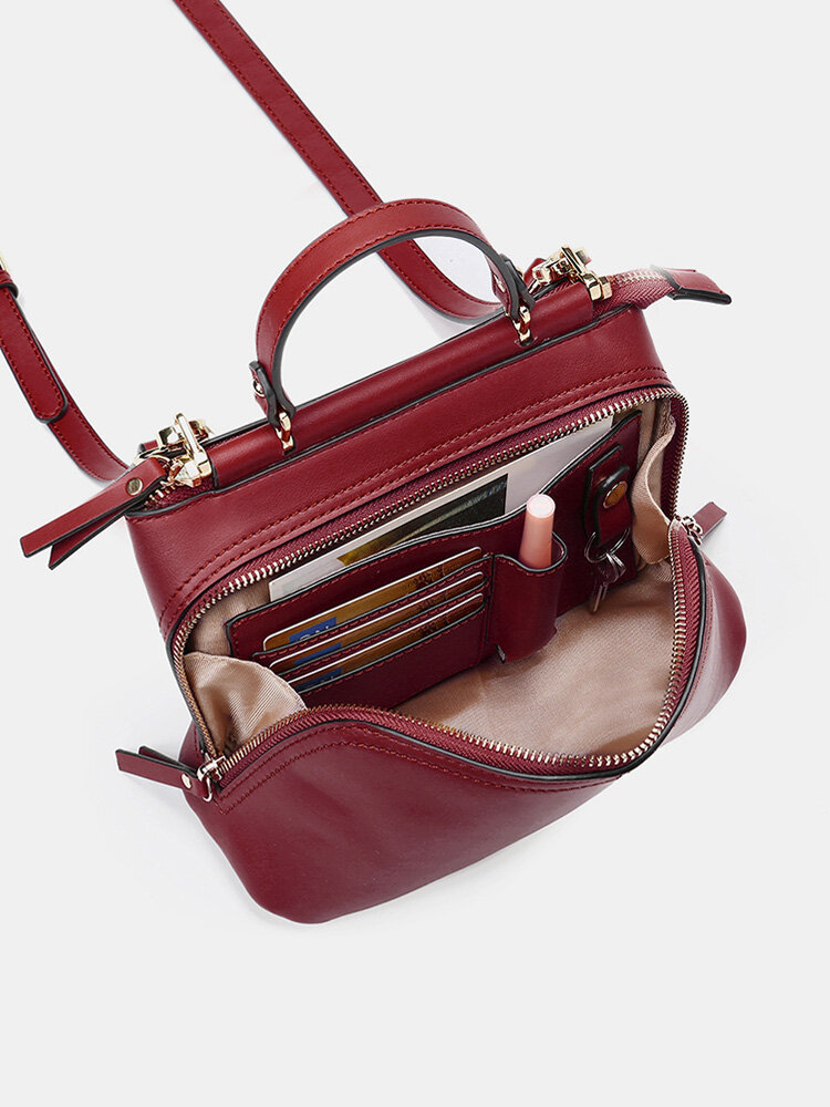 Bolsa de mão maciça feminina Design multifunções Crossbody Bolsa