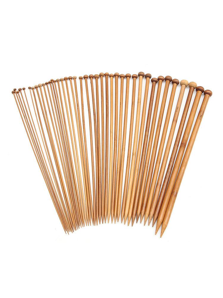 40 pezzi aghi da cucito per maglieria in bambù a punta fai-da-te per maglieria Strumenti