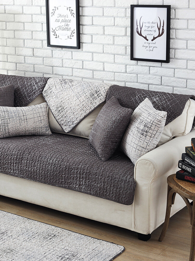 100% Cotton Nordic Style Sectional Sofa Cover Anti-Slip Home Sofa Chair Decor