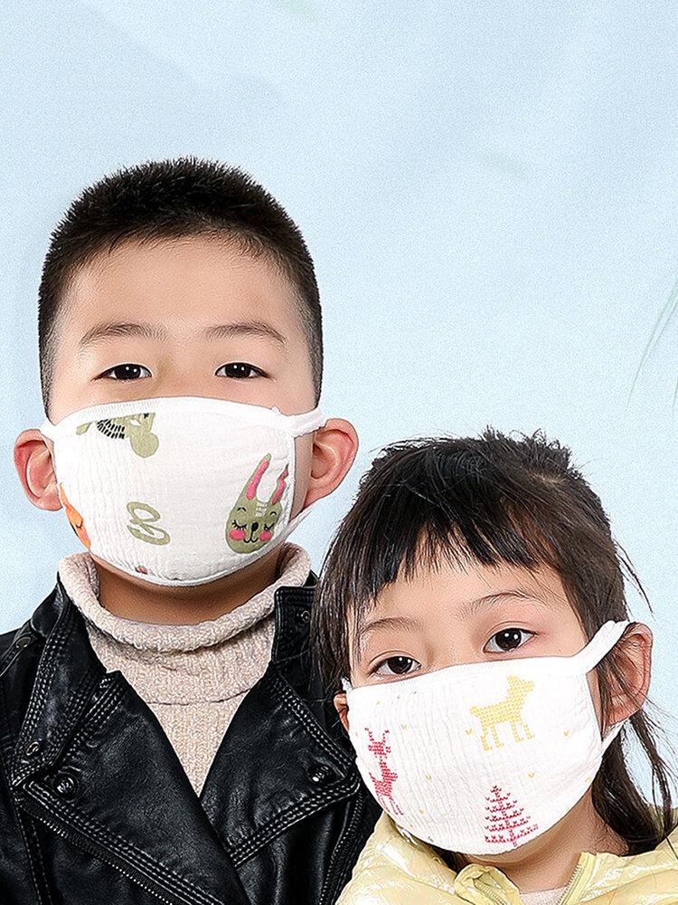 Meltblown Cloth Child Protective Face Mask 5 Layers Dustproof Fogproof Washable Breathable
