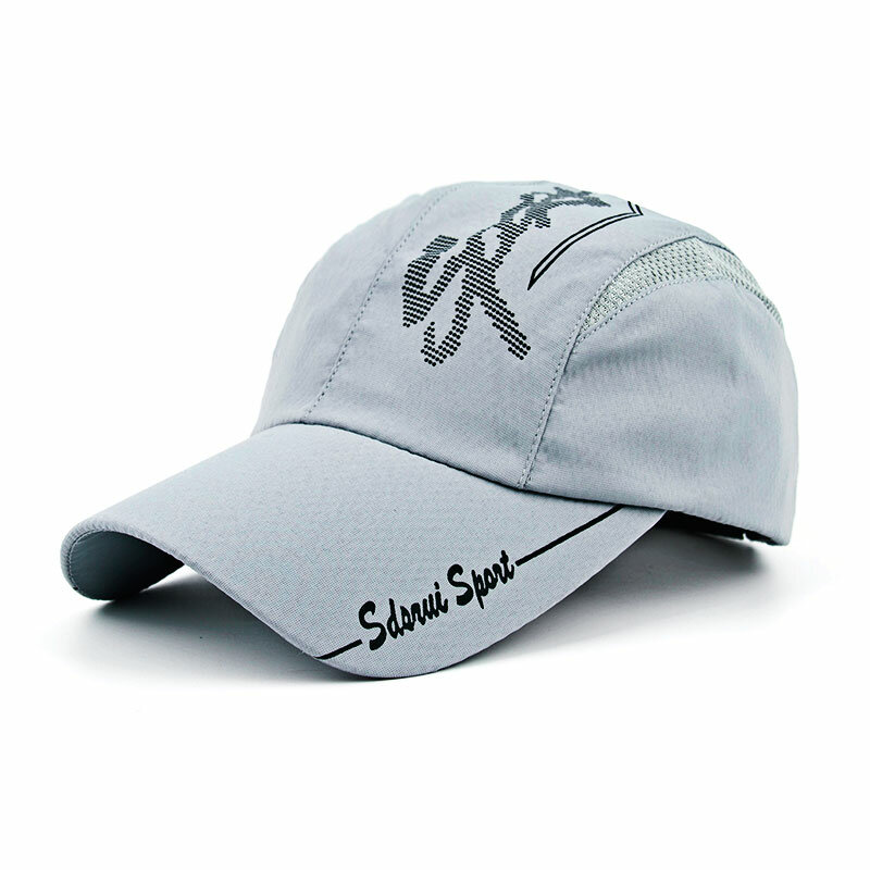 Men's Breathable Adjustable Polyester Mesh Cap Outdoor Sports Climbing Baseball Cap