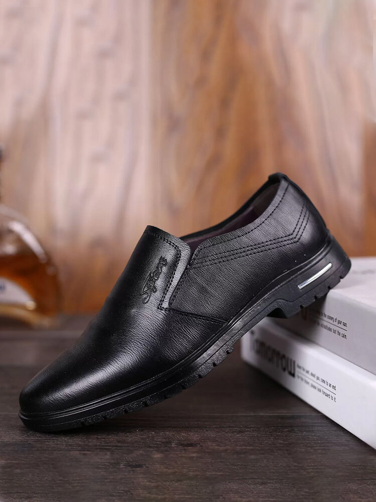Men Wearable Hard Wearing Non Slip Brief Casual Business Shoes