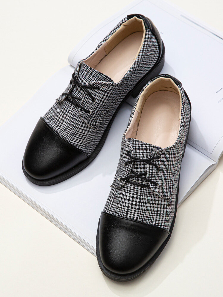 Men British Style Cap Toe Comfy Lace Up Formal Dress Shoes