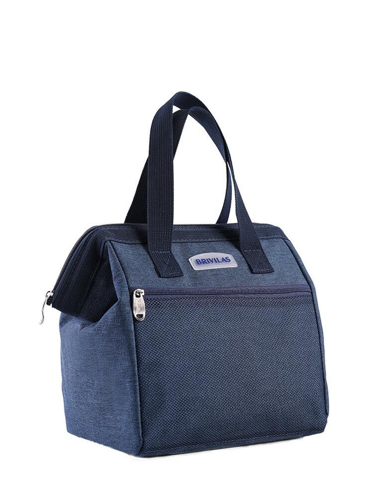 حقيبة غداء عازلة للحرارة كبيرة سعة محمولة سميكة مصنوعة من الألومنيوم