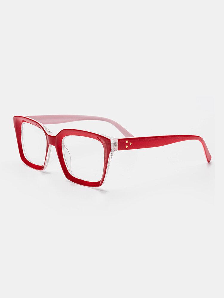 Women Men 5-Color Thick Frame Cat-eye Box Reading Glasses