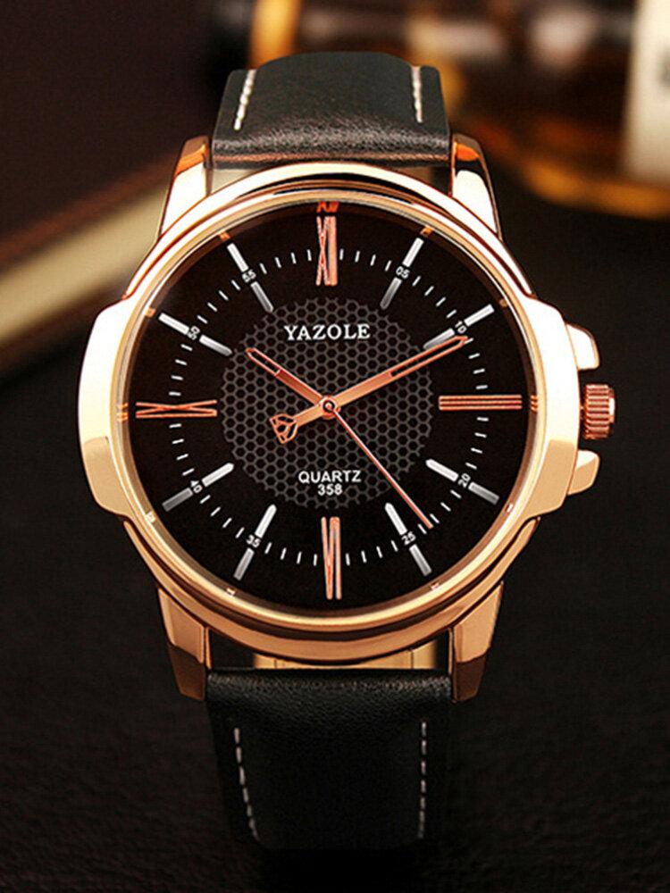 Fashion Men Quartz Watch Luxury Roman Numeral Wrist Watch