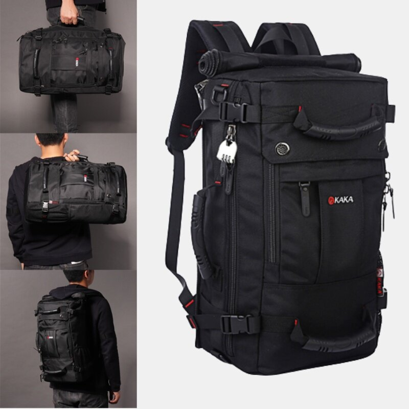 Men 40L Multifunctional Multi-Carry Large Capacity Travel Outdoor Backpack Laptop Bag Crossbody Bag