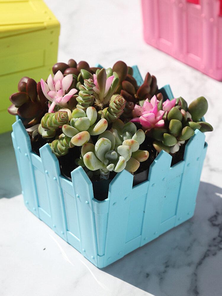 Maceta de madera para flores, decoración de jardinería, maceta para plantas suculentas