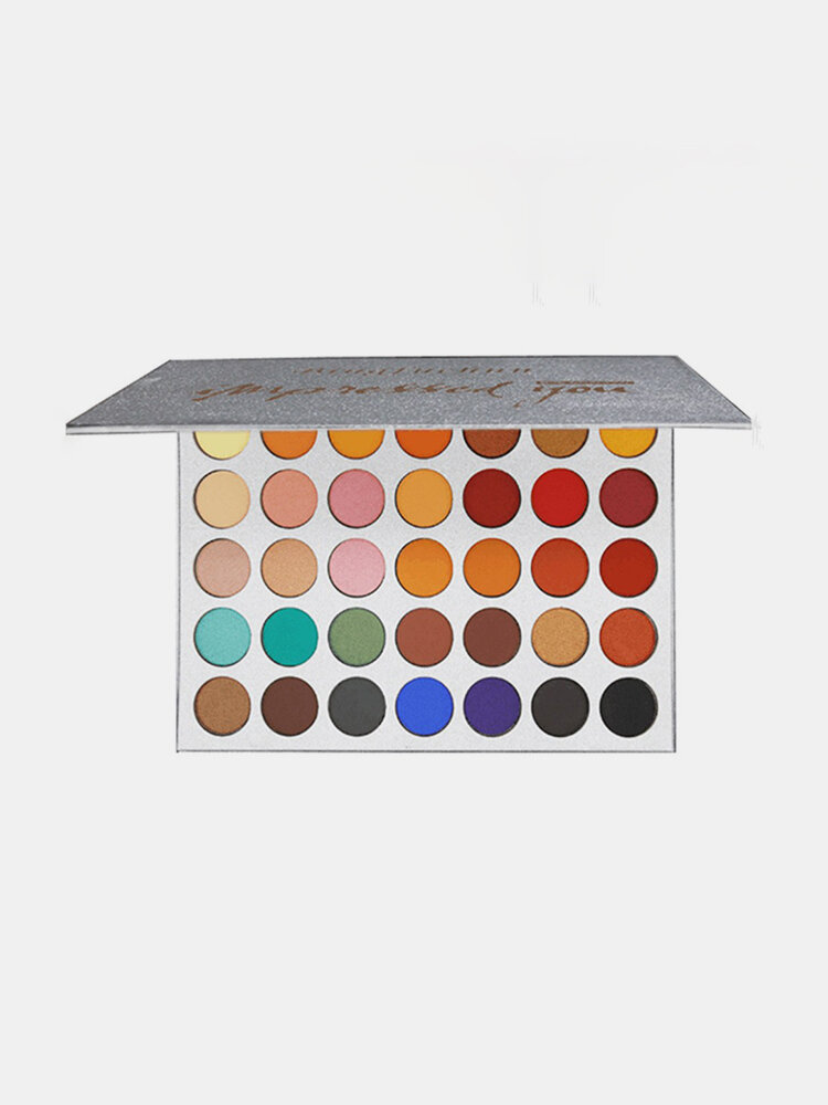 BEAUTY GLAZED Paleta de sombras de ojos mate glitter de 35 colores