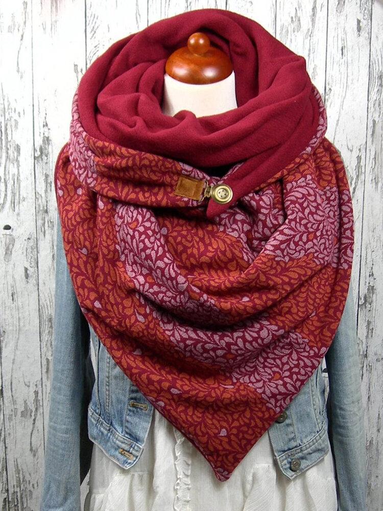 女性のスカーフショールラップ多用途の厚い暖かさのショール印刷スカーフ
