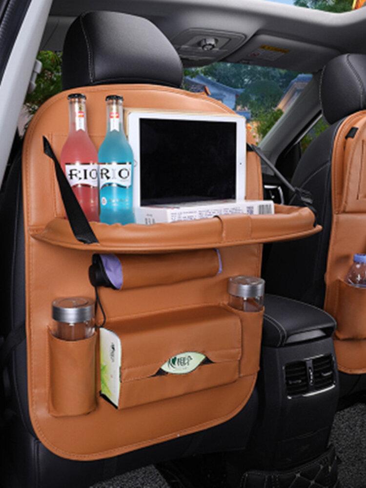 5 Color Car Seat Storage Bag Hanging Bag Leather Material Car Multifunction Storage Hanging Bag Car Seat Organizer