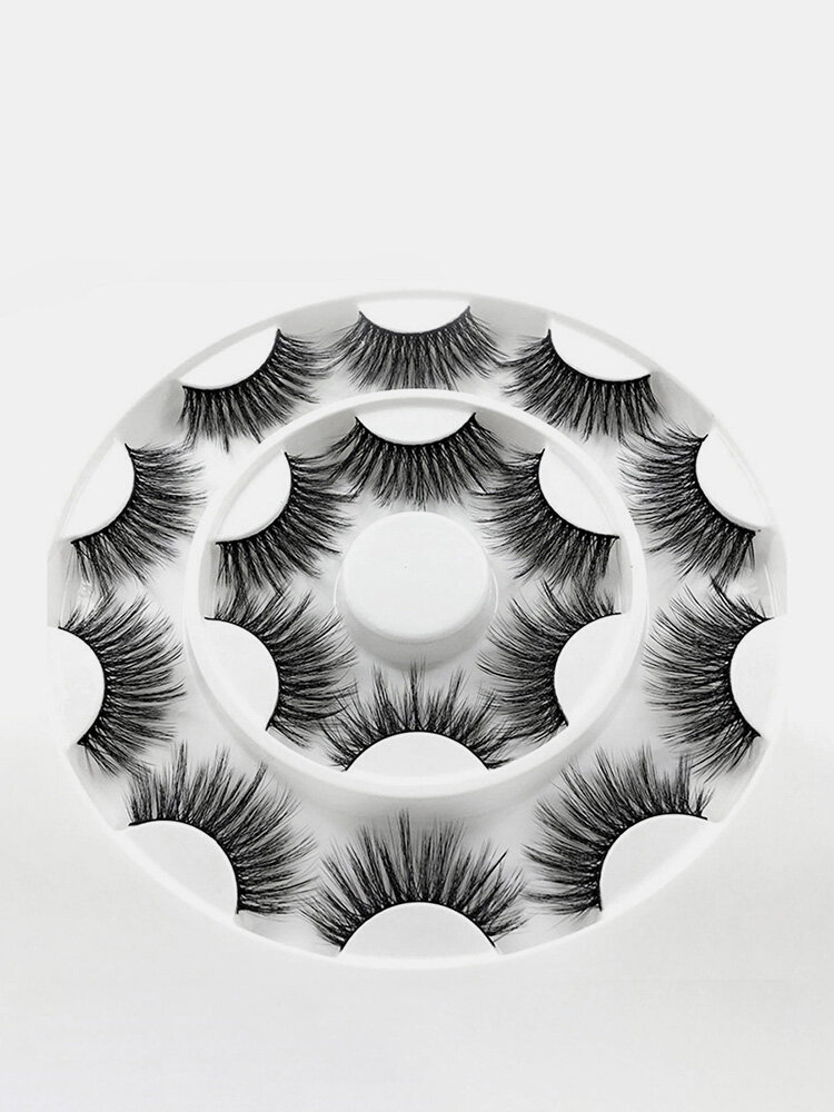 8 Pairs 3D False Eyelashes Soft Fluffy Thick Curl Volume Handmade Eyelashes Eye Makeup