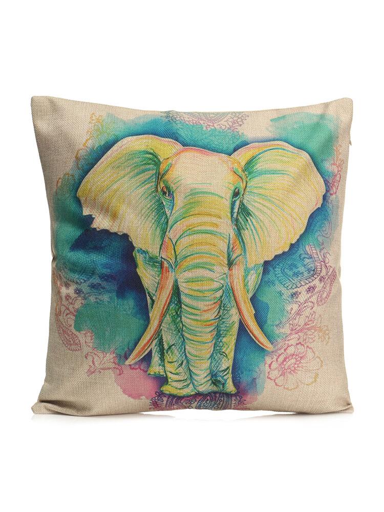 Fashion Animal Cotton Linen Throw Pillow Case Waist Cushion Cover Home Sofa Car Decor