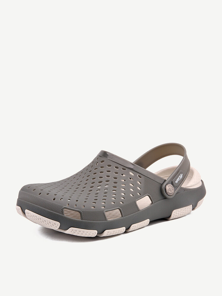 Men Closed Toe Hollow Out Comfy Soft Water Beach Casual Sandals