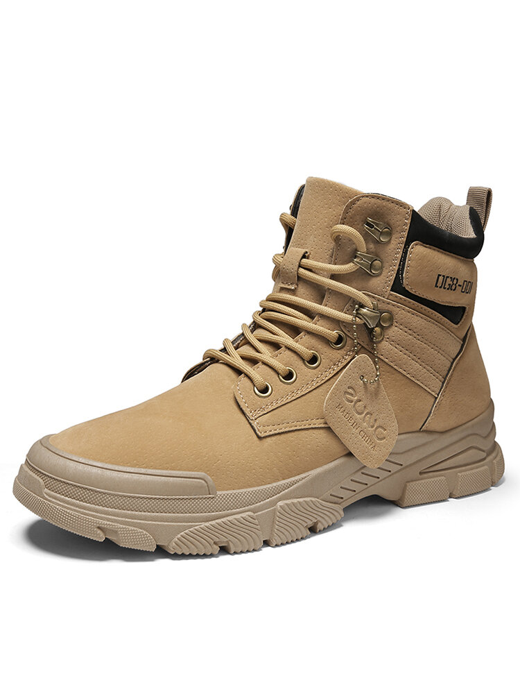 Men Comfy Non Slip Wearable Lace-up Sport Casual Tooling Boots