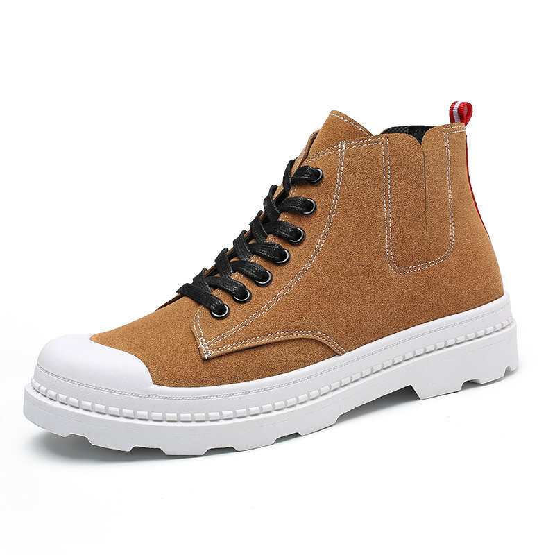 Men Anti-collision Slip Resistant Soft Sole Casual Leather Boots