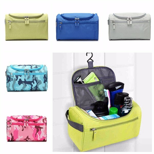 Nylon Waterproof Lightweight Portable Travel Wash Bag Multifunctional Cosmetic Bag Hang Bags