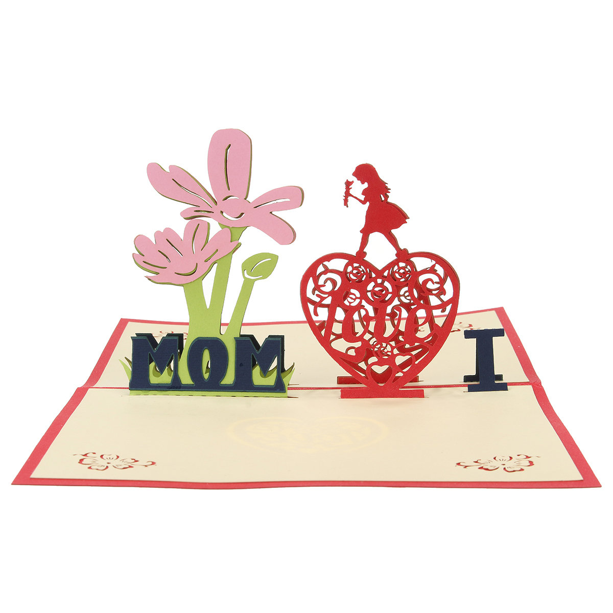 3D Mothers' Day Festival Gift Card Creative Gift