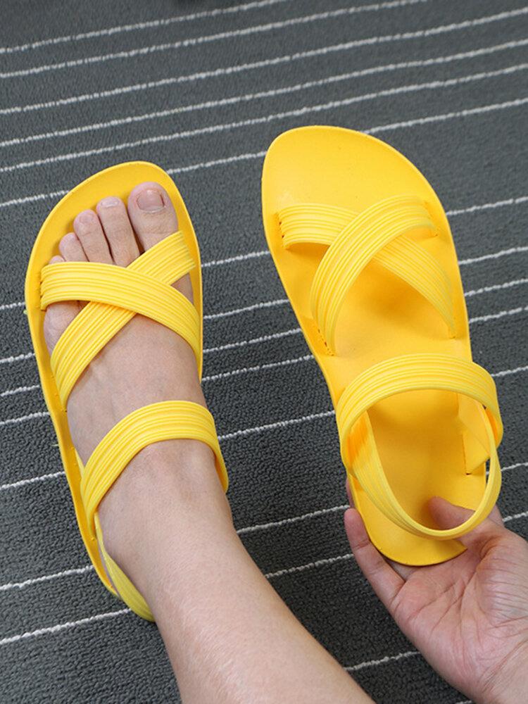 Frauen Sommer Mode Süßigkeiten Farben Komfortabel Soft Casaul Beach Sandalen