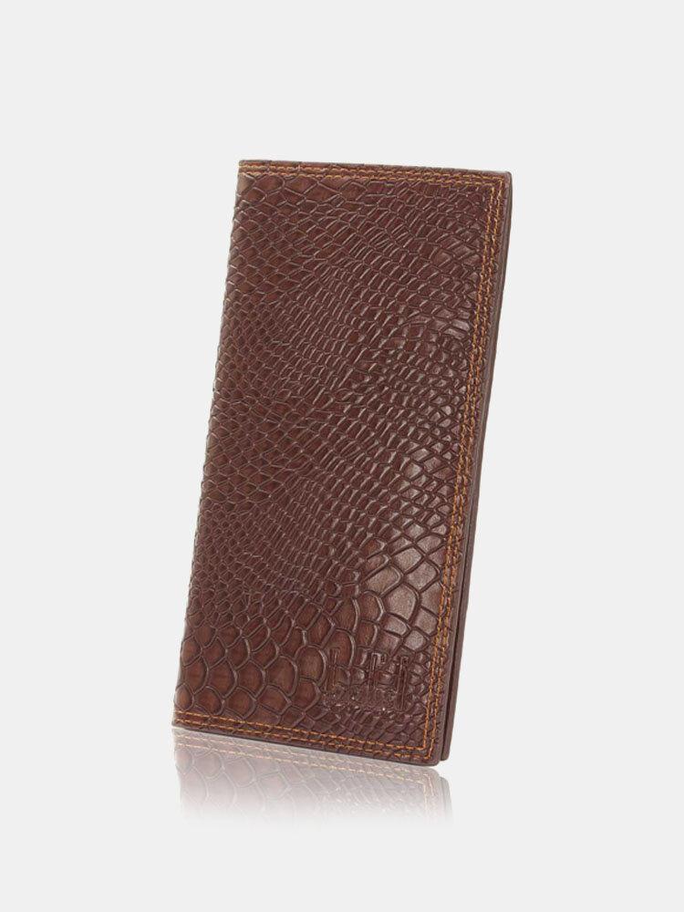 Men Business Casual Retro Long Wallet Cards Cash Coins Bags Purse