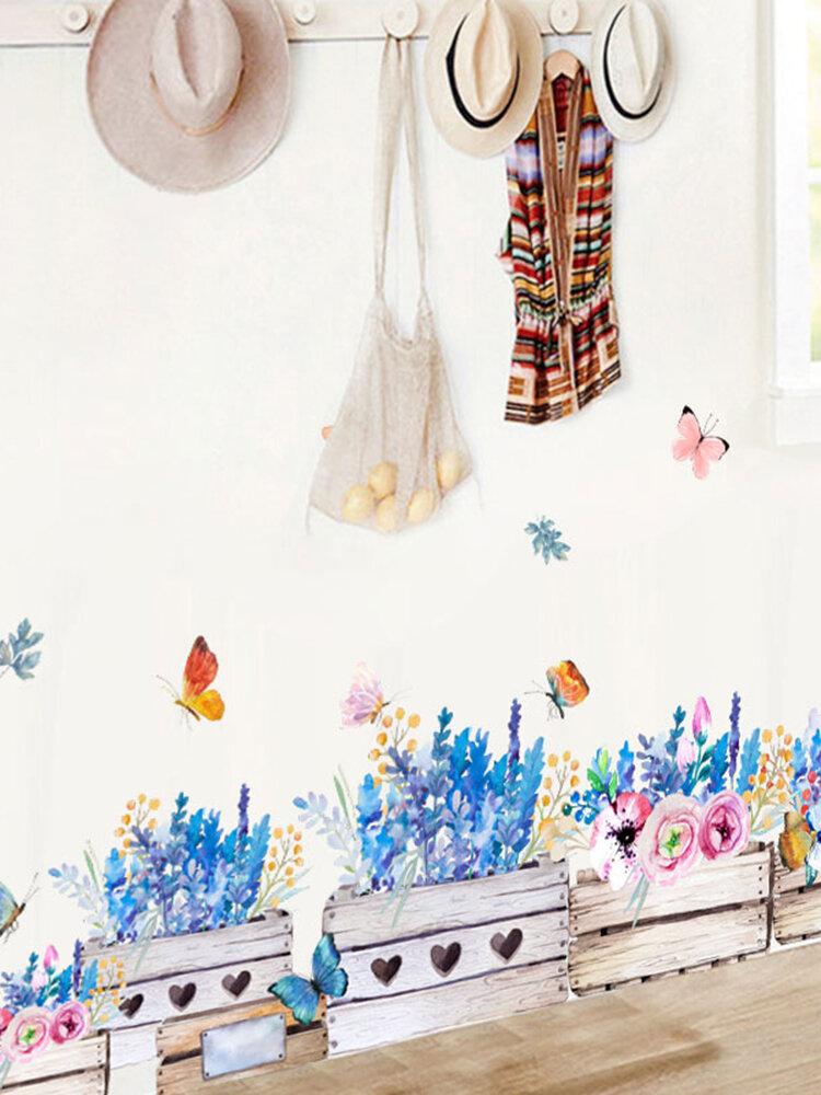 Miico Blumen Wandaufkleber Kinderzimmer Und Kindergarten Dekorative Wandaufkleber DIY Stick