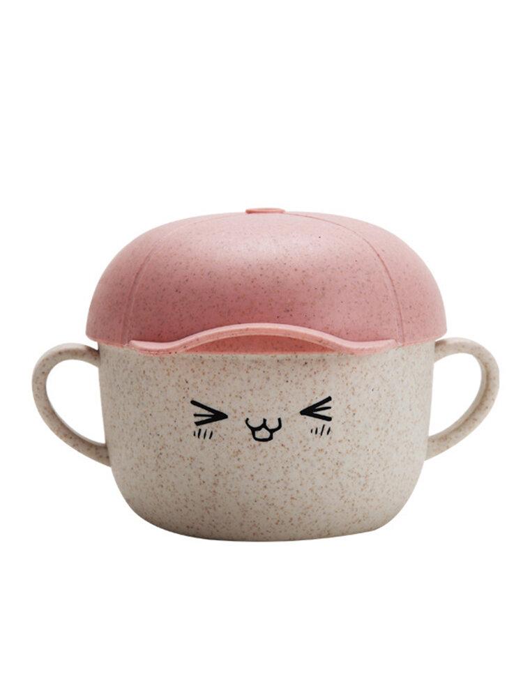 Nordic Style Children's Bowl Cartoon Cute Wheat Straw Bowl Fruit Box