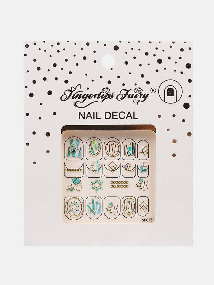 DIY Manicure Nail Sticker 3D Waterproof Butterfly Fruit Laser Nail Applique Decoration