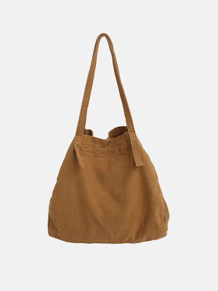 Women Solid Casual Tote Bag