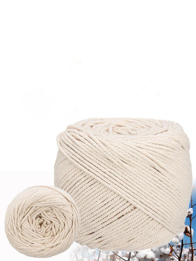6/8/10/12M Length 0.31inch Diameter Cotton Rope Sash Cord White Twine  Natural 3 Strand