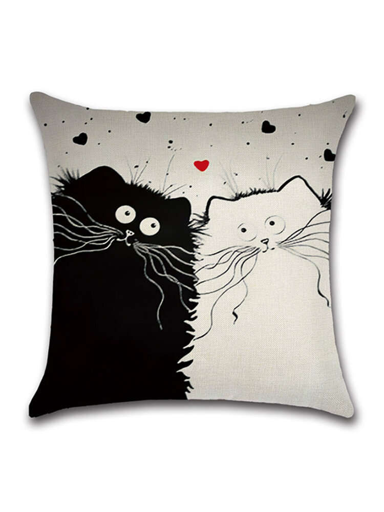 1 PC Cartoon Cat Hug Pillowcase Cushion Cover Home Linen Throw Pillow Cover Bags Home Car Decor