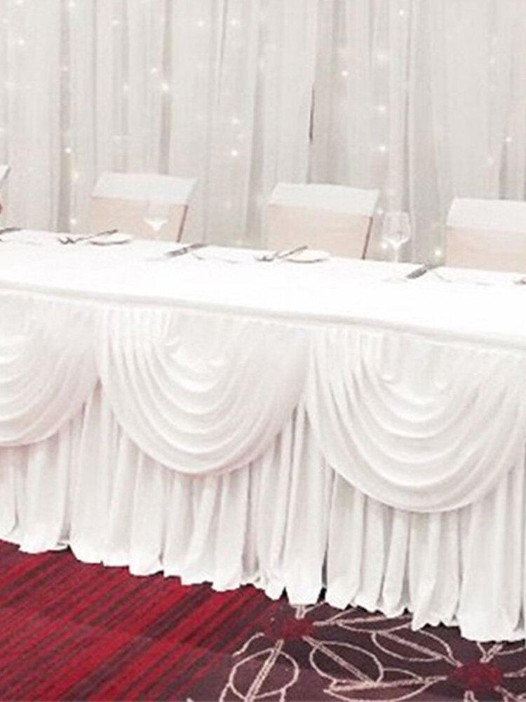 2/3/4M Removable White Wedding Decor Supplies Weddings Backdrop Photography Curtains - 2m*48cm