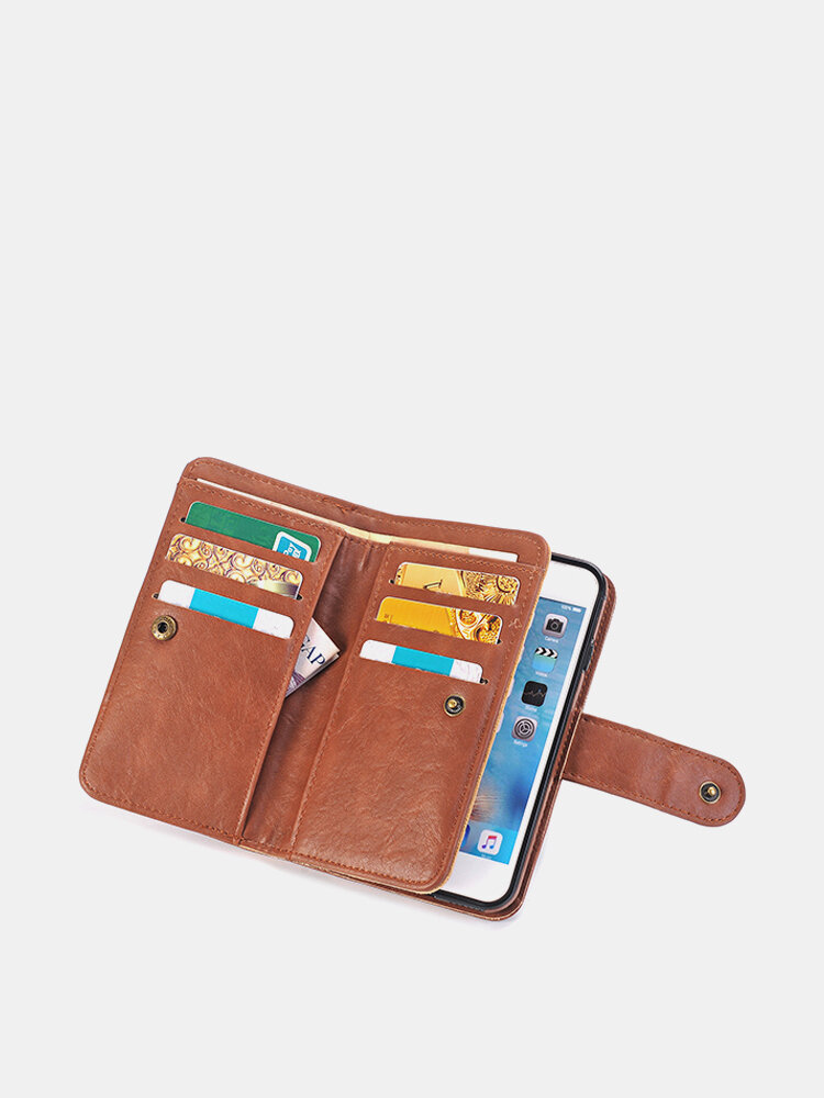 PU Leather 9 Card Slots Casual iPhone7/7Plus/6/6Plus/S7/S7 EDGE Phone Case Wallet Card Pack For Men