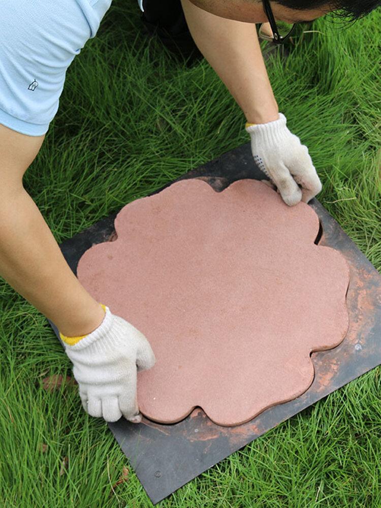 DIY Garden Pavement Mould Manual Paving Cement Brick Stone Road Mould