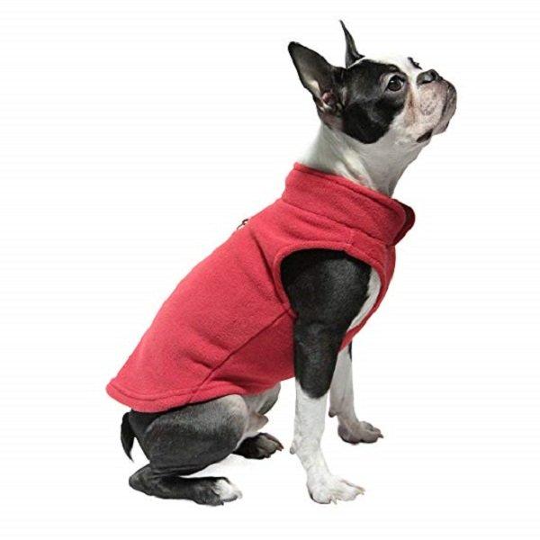 M Size Pet Dog Cat Coat Clothes Autumn Warm Fleece Vest Jacket Both Sides Wear