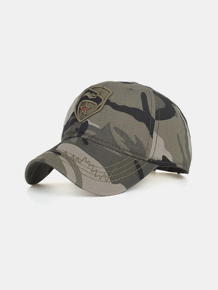 Men's Pentagram Embroidered Camouflage Baseball Cap