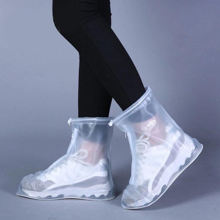 Waterproof Protector Shoes Boot Cover Unisex Zipper Rain Shoe Covers Anti-Slip Rain Shoes
