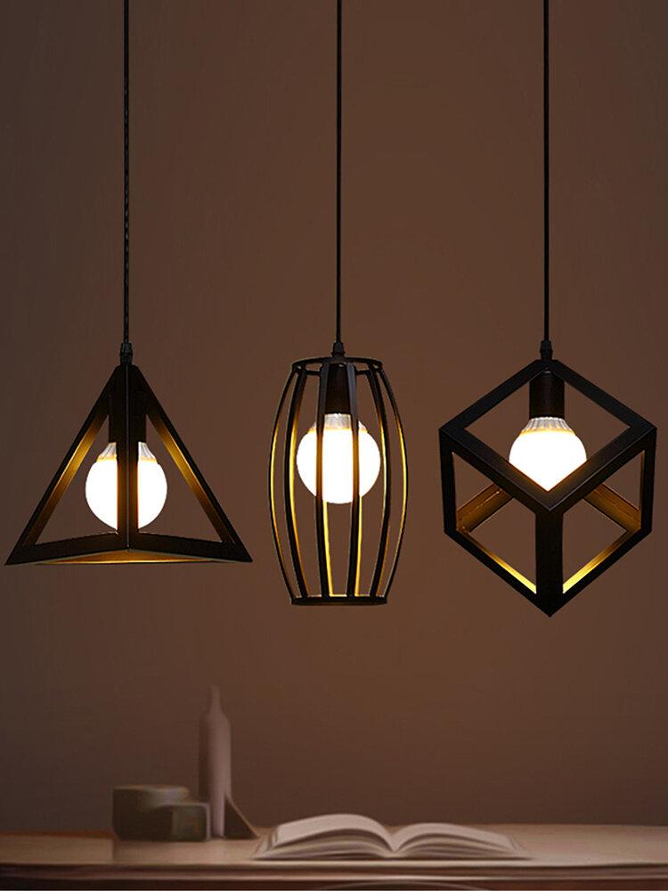 E27 Lampada da soffitto industriale da cucina a sospensione con lampadario a sospensione