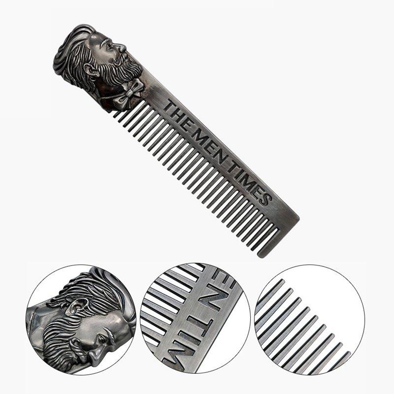 Stainless Steel Beard Comb Vintage Men's Beard Style Comb Hair Beard Comb Hair Care Comb