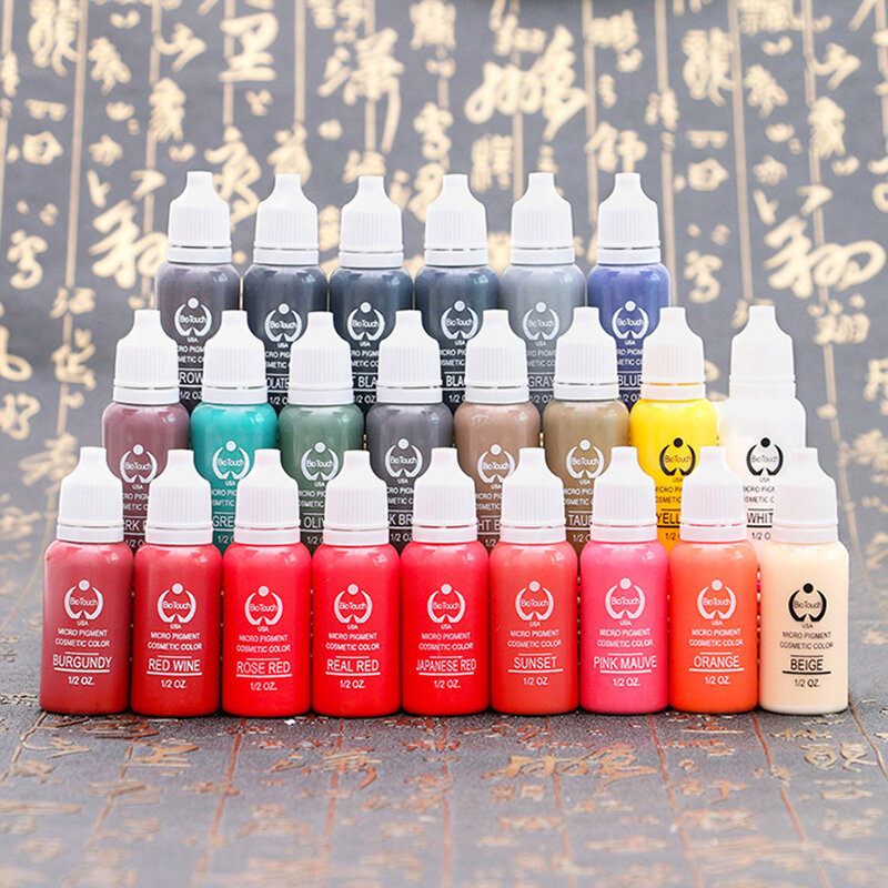 Tattoo Ink 23 Colors Tattoo Pigment Ink Easy To Color Waterproof Eyebrow Tattoo Ink Pro Body Art