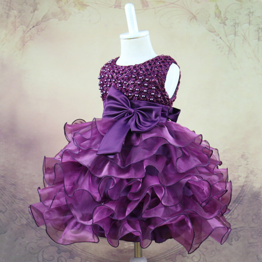 9f4cc9beac1b Lace Flower Baby Girls Princess Wedding Dress For 0-24M On Sale - NewChic